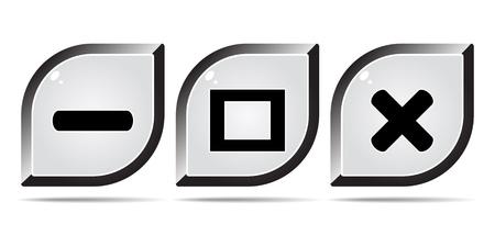 web buttons Stock Vector - 10496402