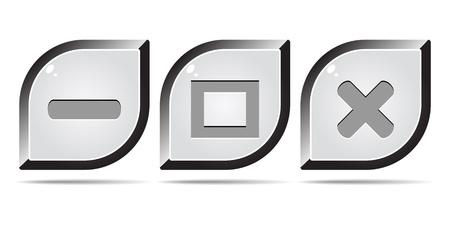 web buttons Stock Vector - 10496401