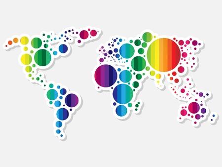 perimeter: colorful world map