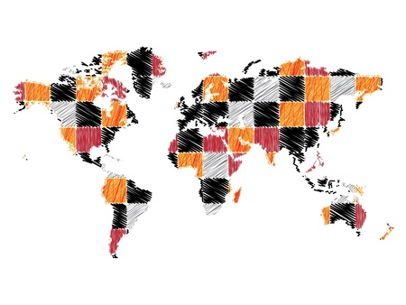 site map: abstract world map Illustration