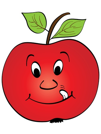 red apple vector illustration Stock Vector - 10567938