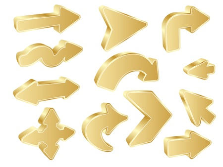 different courses: different shape of arrows vector illustration