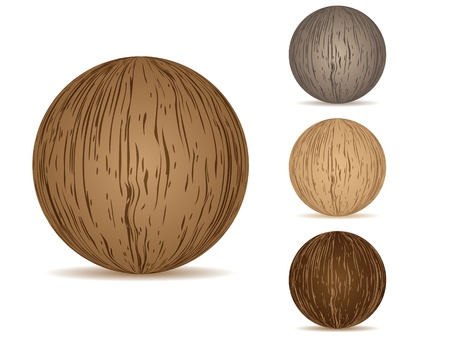 balls wooden texture  Vector