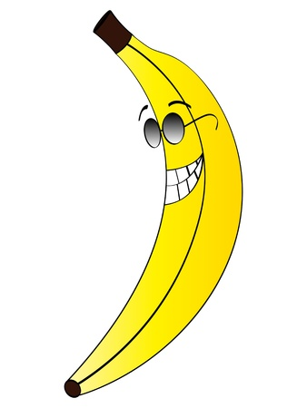happy banana vector illustration  Vector