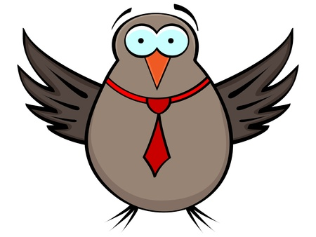 bird vector illustration Stock Vector - 10579793
