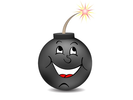 detonator: Black bomb vector illustration  Illustration
