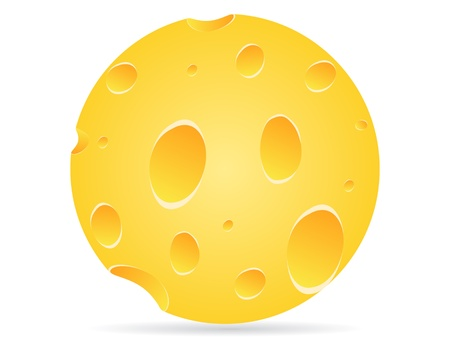 parmesan: piece of cheese vector illustration