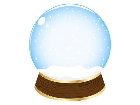 crystalline: christmas globe vector illustration
