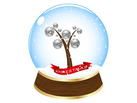 christmas globe vector illustration Stock Vector - 10568322
