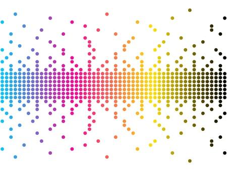 inkjet: ilustraci�n vectorial de colores CMYK