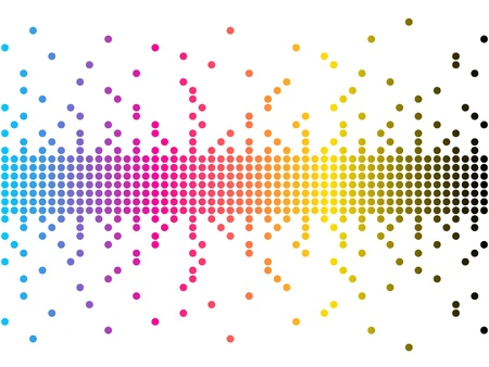 vector illustration of CMYK colors  Illustration