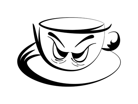 cofe: coffee cup contour vector illustration  Illustration