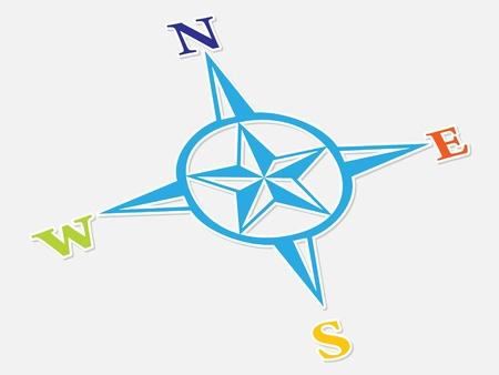 north arrow: compass icon vector illustration