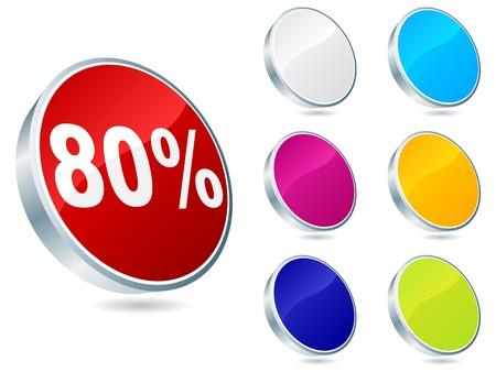 ochenta: ochenta por ciento de descuento icono ilustraci�n vectorial