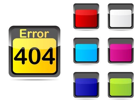 error web buttons different colors  Vector