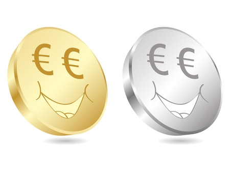 credit union: euro coins vector illustration  Illustration