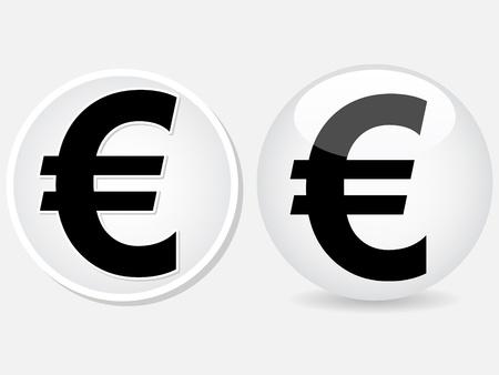 credit union: euro money icon illustration