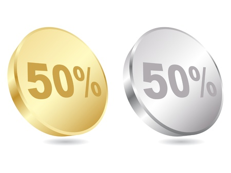 fifty percent discount icon vector illustration  Vector