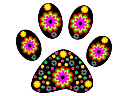 animal tracks: Dog footprint illustrazione vettoriale