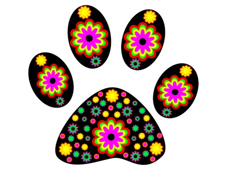 animal tracks: Ilustraci�n vectorial de perro huella