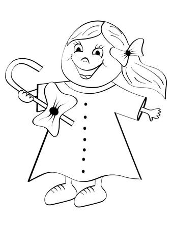 playthings:  girl vector illustration