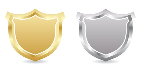 sheriff badge: two badge golden and silver