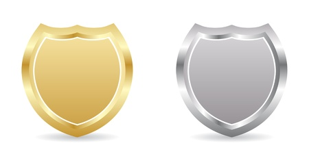 cop: two badge golden and silver