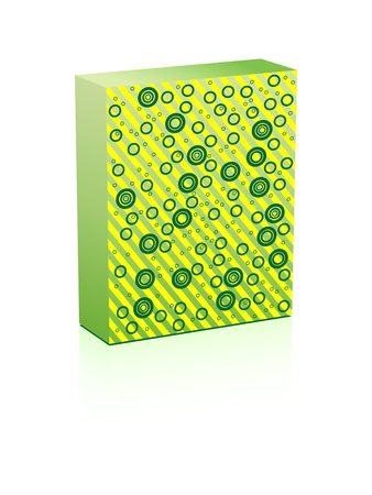 green box vector illustration Stock Vector - 10568017