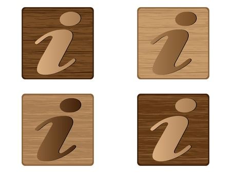 information wooden buttons  Vector