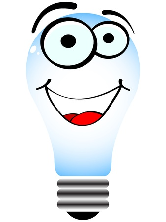 happy lightbulb vector illustration