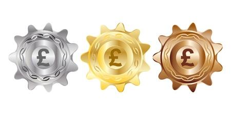 pound coins: pound coins vector illustration