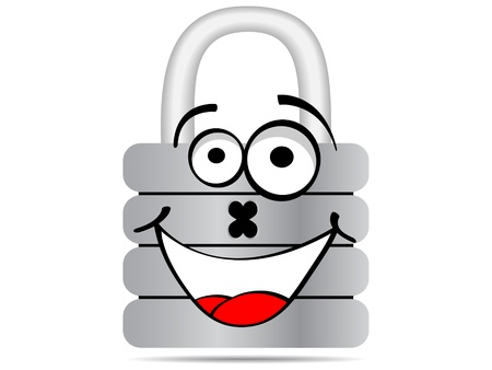 padlock cartoon vector illustration Illustration