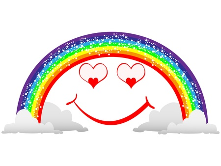 funny rainbow Vector