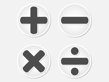 mathematics button vector illustration Stock Vector - 10567871