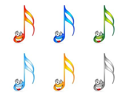 shinning: Ilustraci�n de vectores de brillantes notas musicales  Vectores
