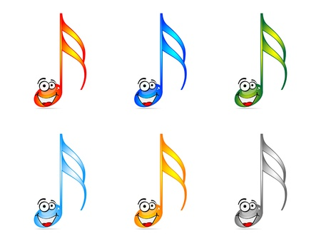 Shiny musical notes vector illustration  Vector