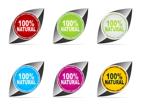 100% natural web buttons different colors Stock Vector - 10568246