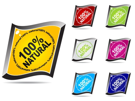 100% natural web buttons different colors Stock Vector - 10568254