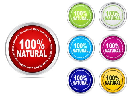 100% natural web buttons different colors Stock Vector - 10568297