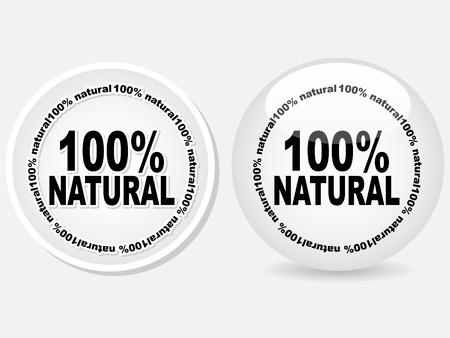 100% natural web buttons  Vector