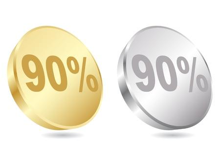 ninety: ninety percent discount vector illustration  Illustration