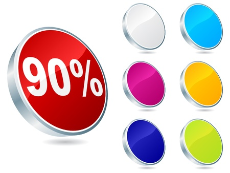 ninety: ninety percent discount icon vector illustration