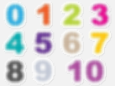 10 number: Dot numbers  Illustration