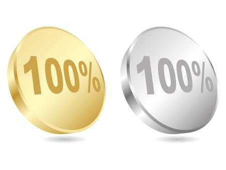 onehundred: one hundered percent discount vector illustration