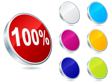 onehundred: one-hundred percent discount icon vector illustration