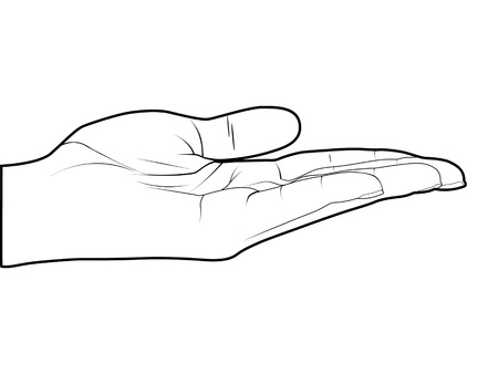 nonverbal: Empty hand vector illustration