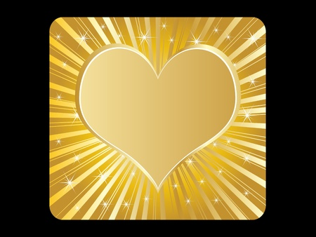 golden poker element - heart