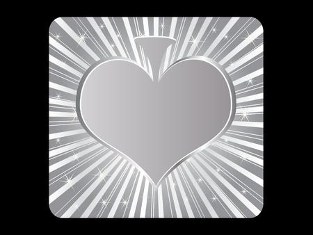 silver poker element - heart Stock Vector - 10568066