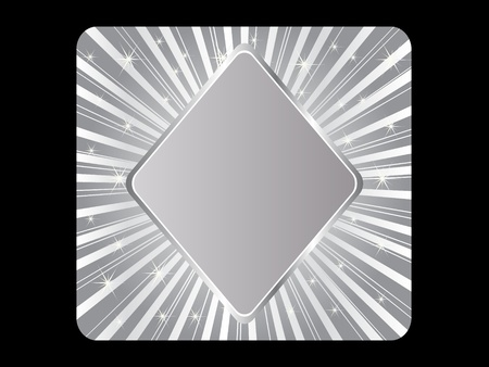 silver poker element - rhombus Stock Vector - 10568063