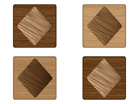 wooden poker element - rhoumbus Stock Vector - 10568271